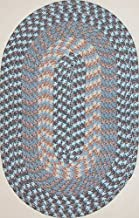 "product image for Hometown 8'6"" x 11'3"" (102"" x 135"") Oval Braided Rug in China Blue"