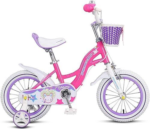 ETZXC Prinzessin Bike Rosa Kinderfürrad Indoor Kinder Praxis Dreirad Geeignet für mädchen fürr r Outdoor-fürrad für Kinder im Alter von 313
