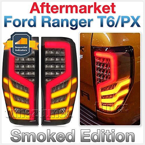 TUNEZ® LED Sequentiell Geräuchert Rückleuchten Lampe hinten für Ranger Wildtrak T6 MK1 MK2 MK3 Lastwagen