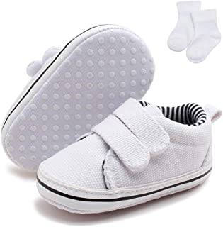 Delebao Baby Non-Slip First Walking Shoes Fashion Breathable Hook & Loop Sneakers