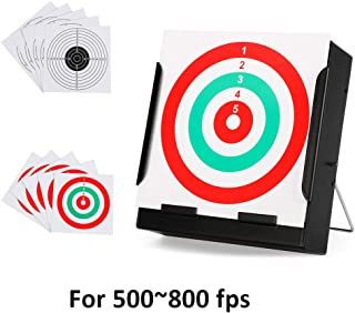 Airsoft Pellet Trap Catcher-Metal BB Trap Target With 10 PCS Shooting Target Papers