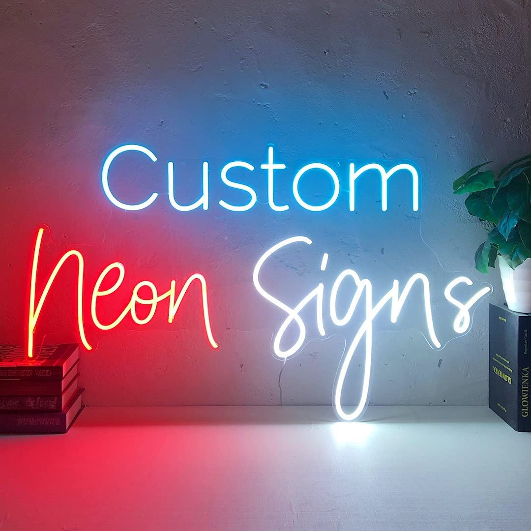 AOOS CUSTOM Boston Mall Dimmable LED Neon Signs Home Bedroom Deluxe Salon for Dinin
