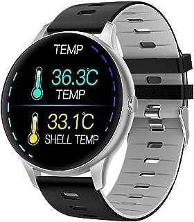 Decdeal K21 Akıllı kol saati Spor kol saati 1.3 İnç IPS Ekran BT5.0 Fitness Takipçisi IP68 Su Geçirmez Uyku /// Sıcaklık M...