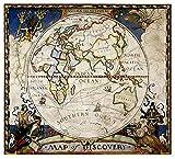 HJHJHJ Rompecabezas de 1000 Piezas, Rompecabezas Grandes Juego Educativo Divertido Intelectual descomprimiente Interesante Rompecabezas-Póster del Mapa del Mundo del Hemisferio Orient