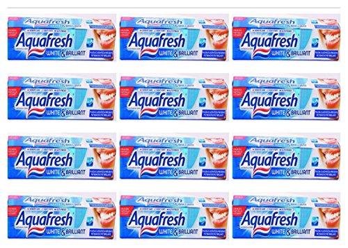 12 x AQUAFRESH Dentifricio White & Brillant 75 Ml