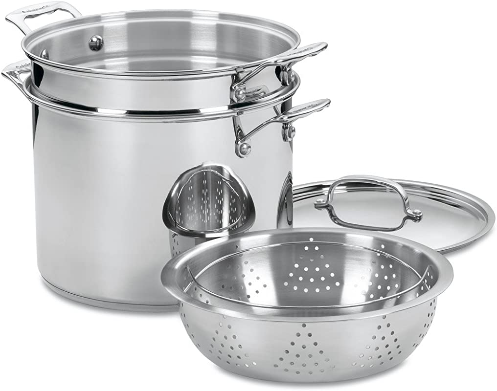 Cuisinart 77 412 Chef S Classic Stainless 4 Piece 12 Quart Pasta Steamer Set