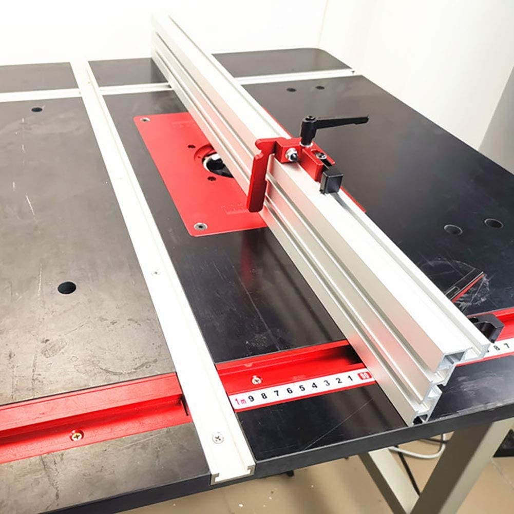 pour Routeur De Travail Du Bois,300mm Mioloe T-Track T-Slot Rail T-Slot T-Tracks Mitre Jig Outils Aluminium T-Tracks Mitre Jig Fixation Fente avec r/ègle doutil