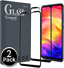 Ferilinso Screen Protector for Xiaomi Redmi Note 7/ Redmi Note 7 Pro,[2 Pack] [Full Glue][Full Cover] Tempered Glass Case Friendly Protective Film with Lifetime Replacement Warranty (Black)