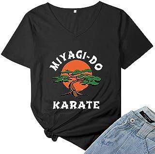 Womens 1980's Martial Arts Movie Miyagi Do It Again Vintage Women T-Shirt Tops