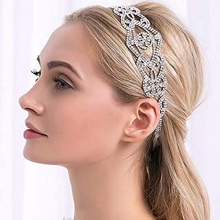 Jakawin Wedding Headpiece Bridal Headband Silver Crystal Headdress Fashion Hair Accessories for Brides and Bridesmaids HB031