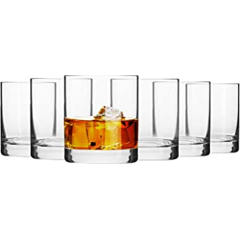 Krosno Whisky-Gläser Tumbler | Set von 6 | 300 ML | Blended Kollektion | Perfekt für Zuhause, Restaurants und Partys | Spülmaschinenfest
