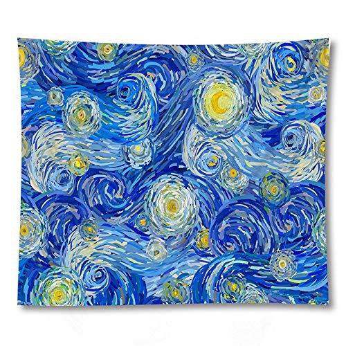 PPOU 3D Arte Azul Pintura al óleo Abstracta Tapiz Colgante de Pared Sala de Estar decoración del hogar Tapiz de Tela de Fondo A1 180x200cm