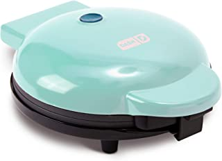 """Dash DEWM8100AQ Express 8"""" Waffle Maker Machine for Individual Servings, Paninis, Hash browns + other on the go Breakfast, Lunch, or Snacks, with Easy Clean, Non-Stick Sides, Aqua"""