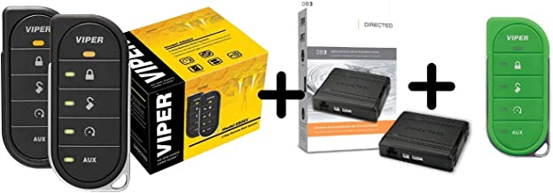 $199 » Viper 4806v w/ DB3 & 87856VG2-Way LED Remote Start System Including Transmitter w/ 1 Mile Range & Bypass Module & Green Tr...