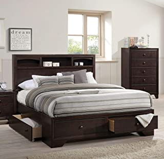 ACME Madison II Espresso Queen Bed with Storage