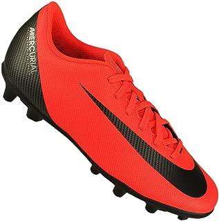 Nike Men's Vapor 12 Club CR7 FG/MG Soccer Cleats (Crimson/Black/Chrome)