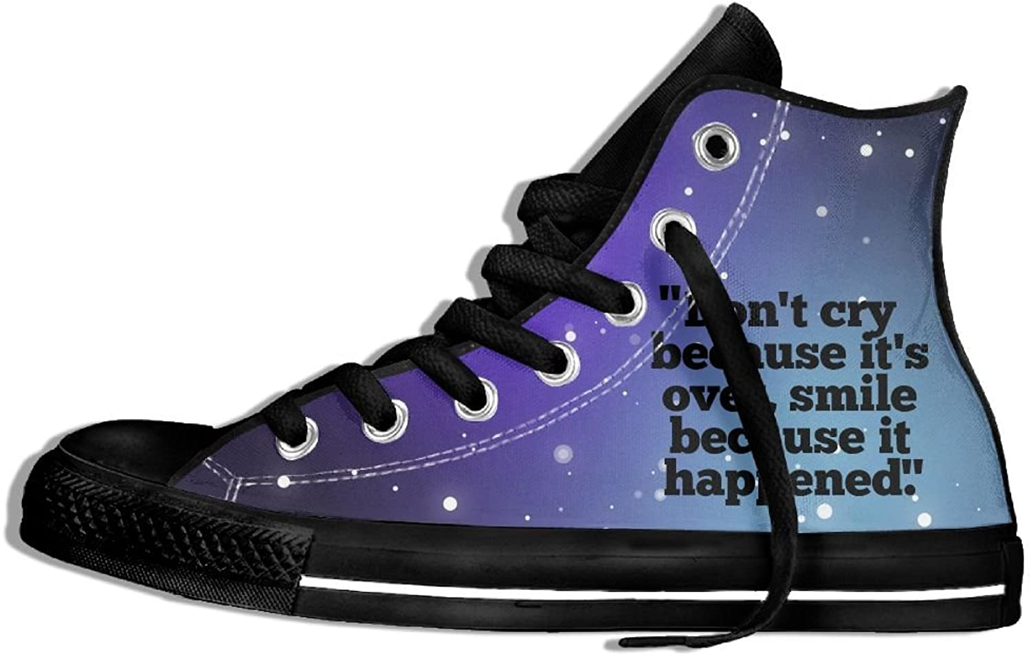 Don't Cry Because It's Over High Top Classic Casual Canvas Fashion shoes Sneakers For Women & Men