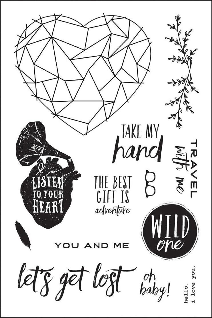 Prima Marketing 4x6 Cling Stamp - Wild & Free Art