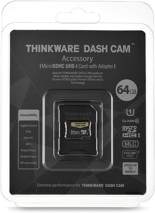 THINKWARE TWA-SMU64 UHS-I 64GB MicroSD Card | Anti File Corruption | for Dash Cam