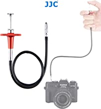 JJC TCR-40R 40cm Threaded Cable Release, Mechanical Shutter Release Cable, Bulb-Lock Design for Long Exposures