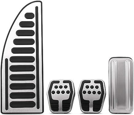 TAABOBO Car-Styling Acero Inoxidable Pedales de Coche Cubierta de la Funda MT para Ford