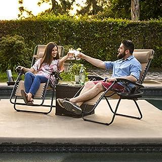 اسعار Best Choice Products Set of 2 Adjustable Zero Gravity Lounge Chair Recliners for Patio, Pool w/Cup Holders - Beige