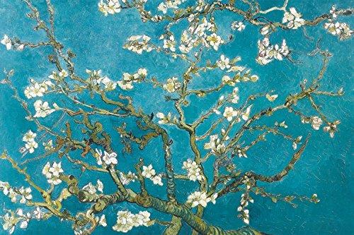 1art1 Vincent Van Gogh - Blühende Mandelbaumzweige, 1890 Bilder Leinwand-Bild Auf Keilrahmen | XXL-Wandbild Poster Kunstdruck Als Leinwandbild 120 x 80 cm