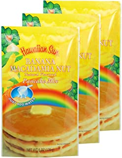 Banana Macadamia Nut Pancake Mix, 6 Ounce (Pack of 3) by Hawaiian Sun