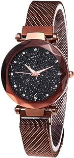 Fashion Women Sky Star Wristwatch,Magnet Strap Buckle Hot Starry Watch