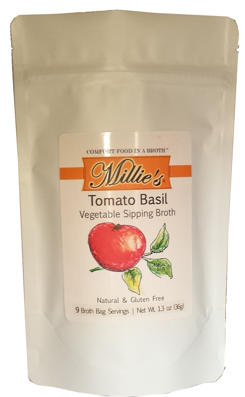 Millie's Vegetable Sipping Broth Count Max 55% OFF 9 Basil A surprise price is realized Tomato