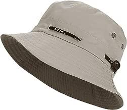 Bob Chapeau de Soleil Femme,Ete Pliable Chapeau de P/êche Large Bord Casquettes Visi/ères Anti-UV Bonnet en Cuir UV Solaire Chapeaux pour Loisirs Voyage P/êche Plage