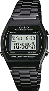 Casio B640WB-1AEF Classic Digital Watch with Stainless Steel Band - Black