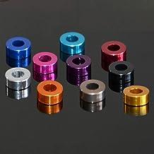 Lnanqing-Seal Washer 20 stks M3 Aluminium Washer M3* 6* 0.5/1/1.5/2/2.5/3mm M3 Kleurrijke Geanodiseerde Aluminium Platte S...