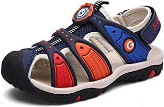 DADAWEN Boy's Girl's Summer Outdoor Breathable Athletic Closed-Toe Sandals Sport Strap Sandals (Toddler/Little Kid/Big Kid)