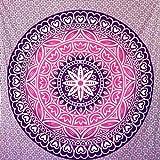 momomus Tapiz Mandala Colorido - 100% Algodón, Grande, Multiuso - Tapices de Pared Decorativos Ideales para la Decoración del Hogar, Habitación o Salón - Rosa, 210x230 cm
