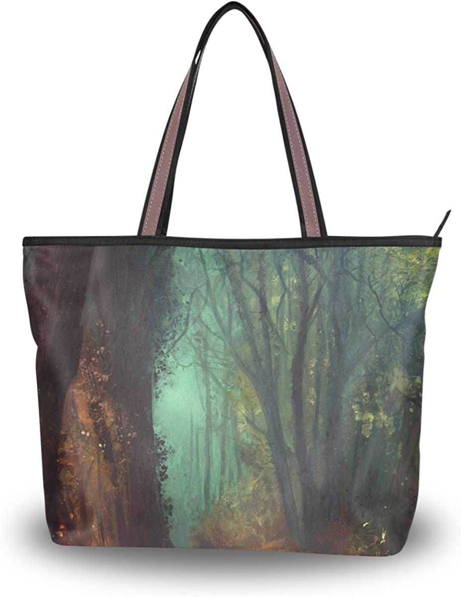 JSTEL Women Large High quality new Tote Top Handle Patern Sale Special Price Bags Forest Shoulder La