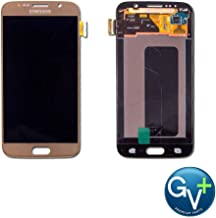 Group Vertical Replacement AMOLED Touch Digitizer Screen Assembly Compatible with Samsung Galaxy S6 (Gold Platinum) (SM-G920) (GV+ Performance)