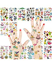 Temporary Tattoo Stickers for Kids Boys Girls, Aniuvot Childern Party Favor Supplies Birthday Body Decoration