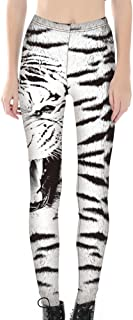 Sister Amy Women's High Waist Pattern Printted Ankle Elastic Tights Legging