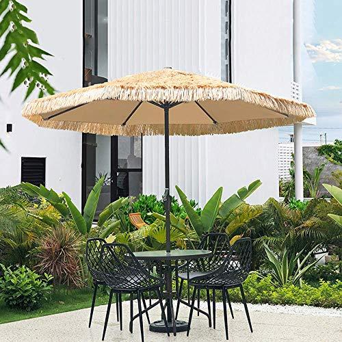 Hawaii Beach Leisure Paraguas de Paja 270cm Patio al Aire Libre Sombrilla de jardín Sombrilla de Paja Sombrillas de Sol al Aire Libre, sin Base