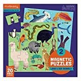 "Mudpuppy Land & Sea Animals Magnetic Jigsaw Puzzle, Great for Kids Ages 4+, 2 Magnetic Puzzles, 20 Pieces Each, 6.5"" x 6.5"", On-The-Go Magnetic Package, Perfect for Travel"
