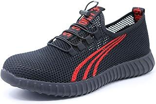 b3a4868736b6 Hifivi Chaussures de Securité pour Homme Légère Embout en Acier,ete Mesh  Ajouré Respirables Chaussures