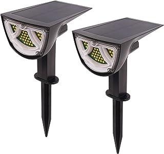 41 LEDs Solar Landscape Spotlights, Wireless Outdoor Solar Landscaping Lights, IP65 Waterproof Solar Powered Wall Lights f...