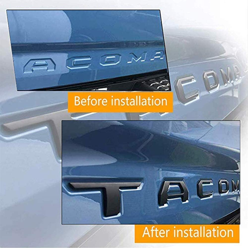 Tailgate Emblems Inserts Letters Mr Udinese Tailgate Insert Letters 3D Raised /& Strong Adhesive Decals Letters Black