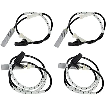 Rear ABS Speed Sensor Compatible with 2006 BMW 330i 2 Male Pin-type Terminals Driver or Passenger Side