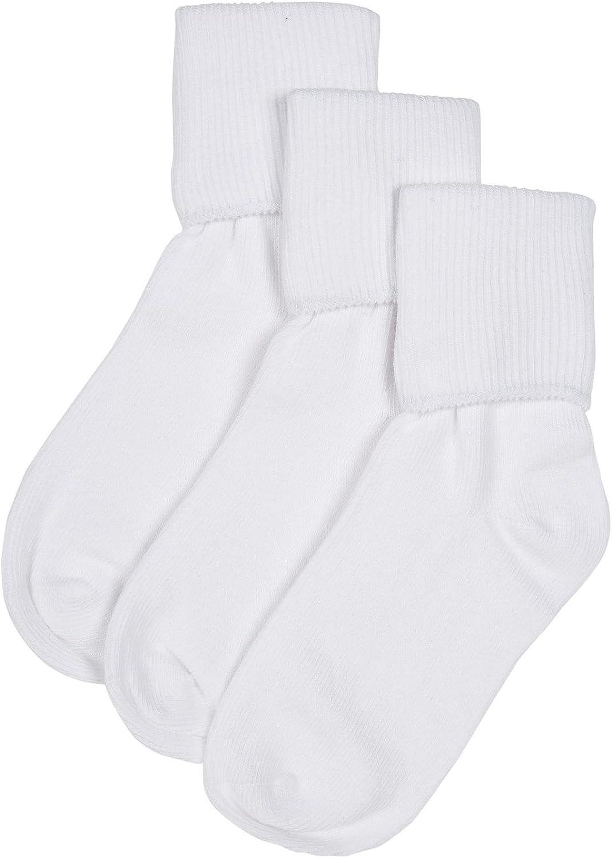 Jefferies Little Boys' 3 Pack Seamless Socks (Toddler/Kid)-White-9-1