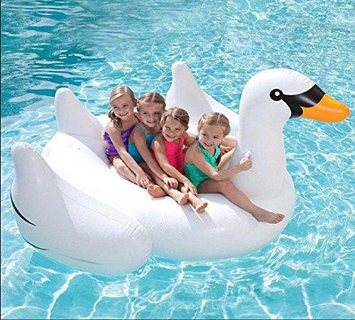 L'approvisionnement en eau Mont PVC gonflable Swan piscine travailleur unisexe baignade anneau/2-3 personnes peut l'utiliser Jouets récréatifs de l'eau , 150cm