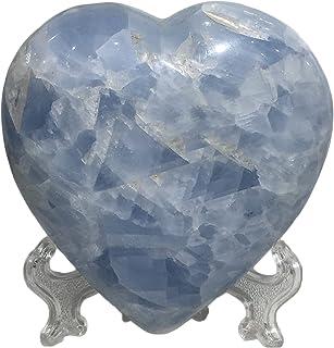 Crystal Natural Crystal Celestite Quartz Reiki Healing Blue Gemstones Chakra Stone Hand Made Love Hearts Home Decor