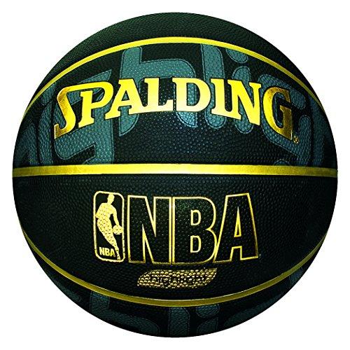Spalding NBA-Pallone da Basket-Colore Nero Trendy, Colore: Nero