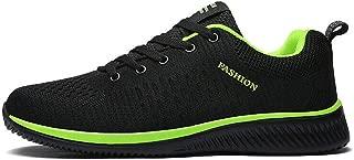 Leorealko Men Sports Shoes, Breathable Lightweight Sweat-abosorption Anti-Slip Shoes